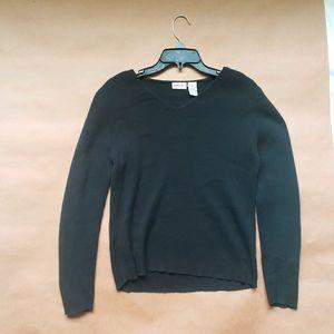 Vintage Cherokee Black Ribbed Medium Sweater